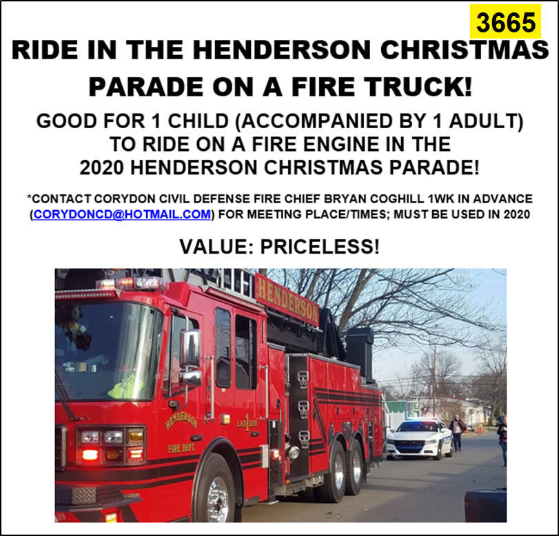 Christmas Parade Henderson Ky 2020 KyLions.auctionanything.com: RIDE IN CHRISTMAS PARADE ON A FIRE TRUCK!